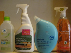 Method Ecover Seventh Generation cleaning products