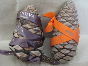 Belgian chocolate pine cones